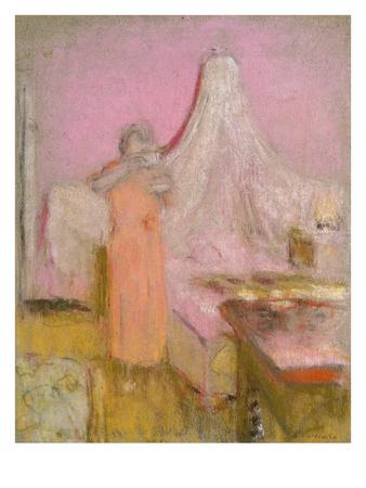 The Morning Cup of Tea. La Tasse De the Du Matin Premium Giclee Print by Edouard Vuillard