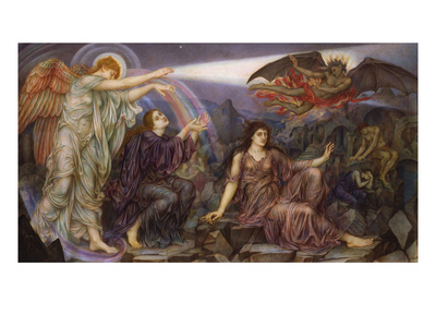 The Searchlight Premium Giclee Print by Evelyn De Morgan