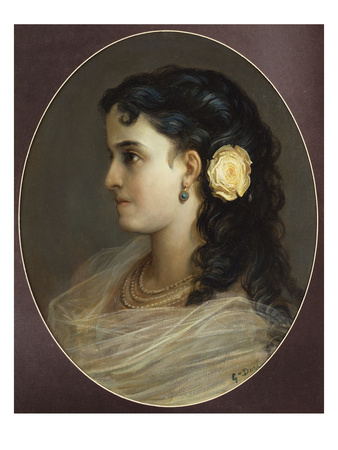 Portrait of Adelina Patti, Head and Shoulders (Female Portrait) Premium Giclee Print by Gustave Doré