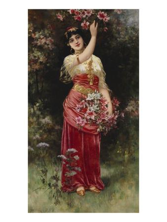 An Oriental Flower Girl Premium Giclee Print by Eisman Semenowsky