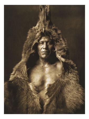 Bear's Belly-Arikara 1908 Lámina giclée por Curtis, Edward S.