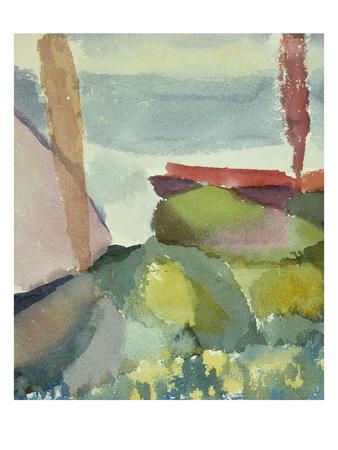 The Seaside in the Rain; See Ufer Bei Regen Premium Giclee Print by Paul Klee