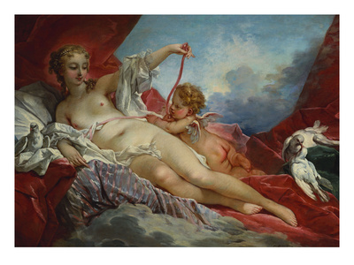 Venus and Cupid Premium Giclee Print by Francois Boucher