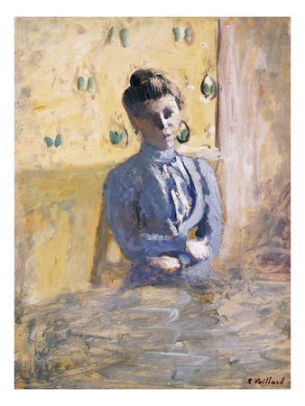 A Seated Woman in Blue; Femme En Bleu Assise Premium Giclee Print by Edouard Vuillard