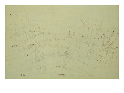 Prehistoric Vegetation; Praehistorische Flora Premium Giclee Print by Paul Klee