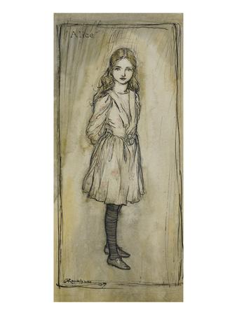 Alice Premium Giclee Print by Arthur Rackham