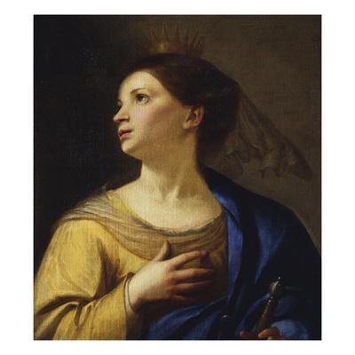 Saint Catherine Giclee Print by Francesco Guarino