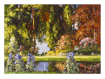 The Garden by the Sea Premium Giclee Print by Tom Mostyn