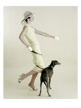 Vogue - January 1955 Photographic Print by Richard Rutledge