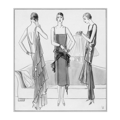 Vogue - August 1929 reproduction procédé giclée