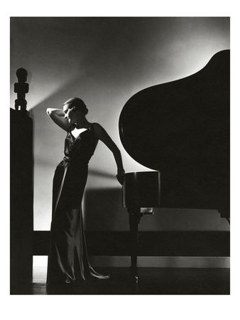 Vogue - November 1935 - Piano Silhouette Photographic Print by Edward Steichen