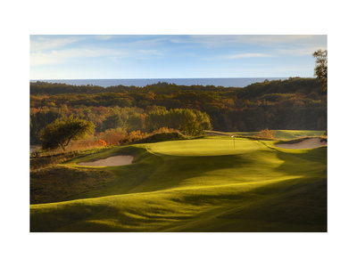 Crystal Downs Country Club, deep bunkers Photographic Print by Dom Furore