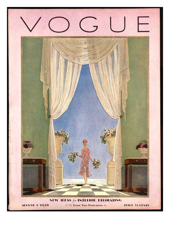 Vogue Cover - August 1928 reproduction procédé giclée