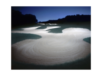 Bethpage State Park Black Course, Hole 17, nighttime Photographic Print by Dom Furore