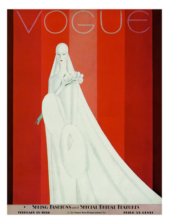 Vogue Cover - February 1928 reproduction procd gicle