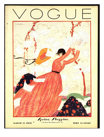 Vogue Cover - February 1928 reproduction procédé giclée