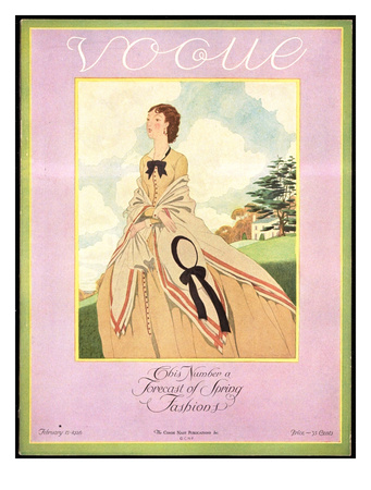 Vogue Cover - February 1926 reproduction procédé giclée