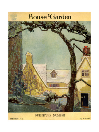 House & Garden Cover - January 1918 Giclee Print