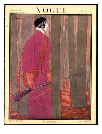 Vogue Cover - January 1923 Giclee Print