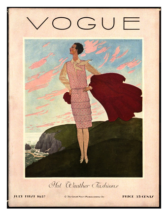 Vogue Cover - July 1927 reproduction procédé giclée