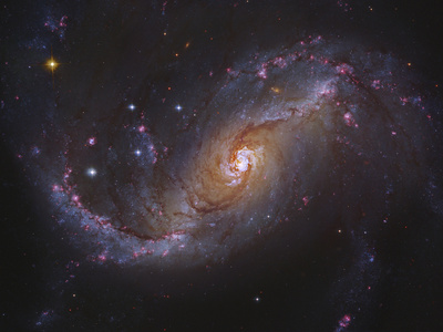Barred Spiral Galaxy NGC 1672 in Dorado Photographic Print by  Stocktrek Images
