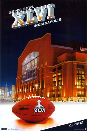 Super Bowl XLVI - Stadium Posters