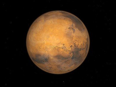 Planet Mars Photographic Print