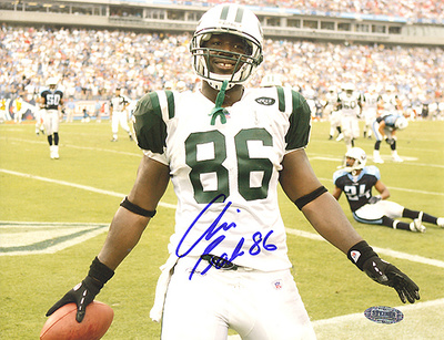 Chris Baker Autographed White Jersey Close Up Photo