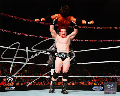 Sheamus Lifting A Man Autographed Photo (Hand Signed Collectable) Photo