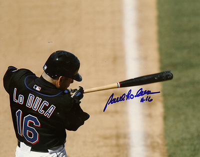 Paul LoDuca Autographed Mets Batting Photograph Photo