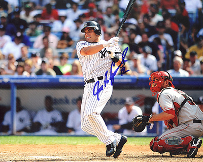 Ivan Rodriguez Autographed Yankees Horizontal Photograph Photo