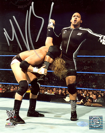 MVP Autographed WWE Action Vertical Photograph Photo