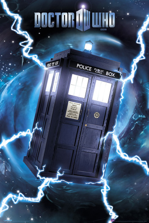 Doctor Who-Tardis- Metallic Poster Planscher