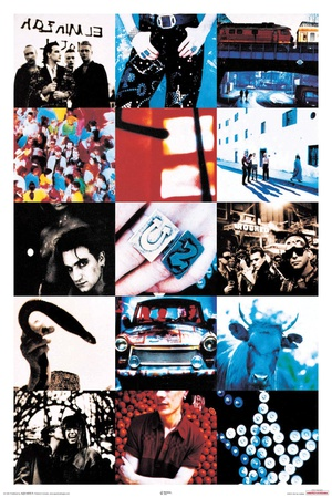 U2 Achtung Baby poster
