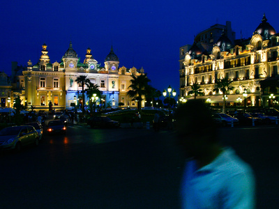 Nighttime Shot of the Monte Carlo Hotel Photographic Print