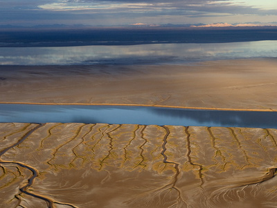 Looking East into Sonora, a High Tide Rushes Up the Dry Colorado River Bed Photographic Print by Pete McBride