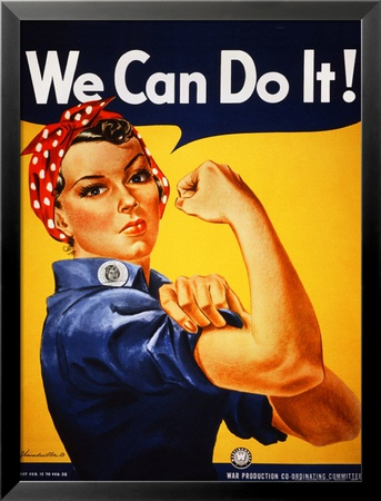 We Can Do It! (Rosie the Riveter) Reproductions d'art plastifiées encadrées