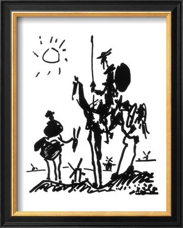 Don Quixote, ca. 1955 Kunstdruck von Pablo Picasso