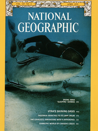 Cover of the April, 1975 Issue of National Geographic Magazine Lámina fotográfica