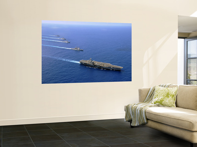 Military Ships Operate in Formation in the South China Sea Wall Mural by  Stocktrek Images