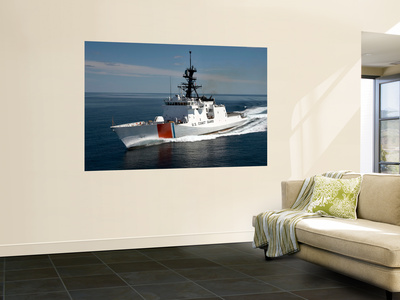 U.S. Coast Guard Cutter Waesche in the Navigates the Gulf of Mexico Wall Mural by  Stocktrek Images