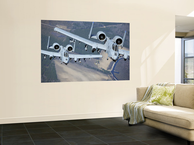 Two A-10C Thunderbolt Ii Aircraft Fly in Formation Wall Mural by  Stocktrek Images
