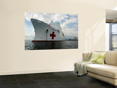 Military Sealift Command Hospital Ship Usns Comfort at Port Wall Mural by  Stocktrek Images