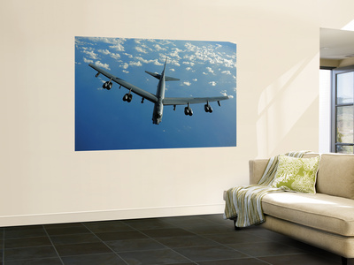 A U.S. Air Force B-52 Stratofortress Flies a Mission over the Pacific Ocean Wall Mural by  Stocktrek Images