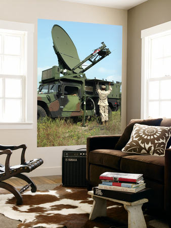 A Phoenix Tactical Satellite Terminal Wall Mural by  Stocktrek Images