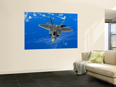 A U.S. Air Force F-22 Raptor in Flight Near Guam Wall Mural by  Stocktrek Images