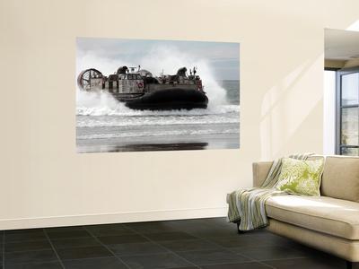 U.S. Navy Landing Craft Air Cushion Makes a Beach Landing Wall Mural by  Stocktrek Images
