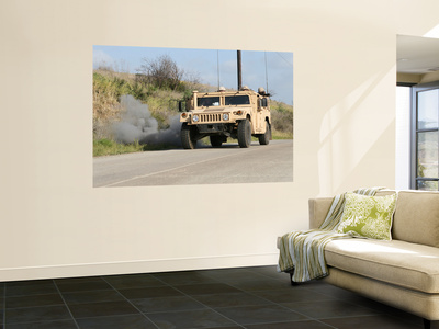 A Mock Improvised Explosive Device Explodes in the Window of a Humvee Wall Mural by  Stocktrek Images