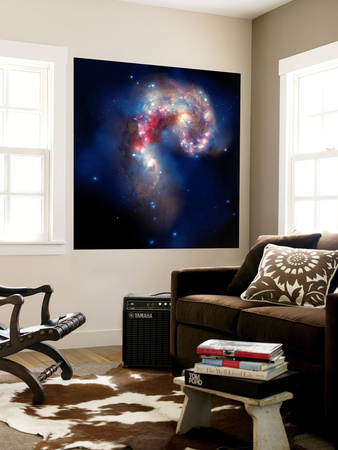 The Antennae Galaxies Wall Mural by  Stocktrek Images