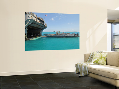 A Landing Craft Utility Approaches the Well Deck of Uss Essex Wall Mural by  Stocktrek Images